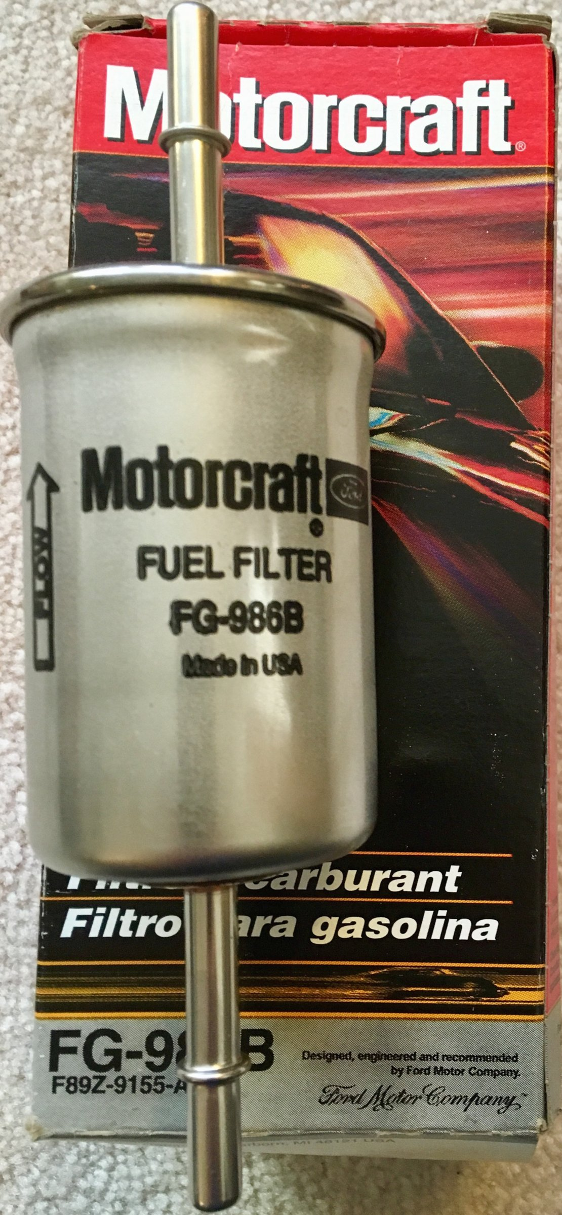 Sold New Ford Motorcraft Fuel Filter Part Number Fg 986b
