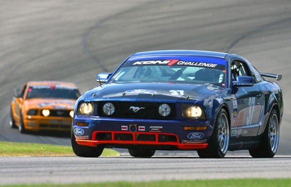 Ford Mustang racing at Barber Motorsports Park