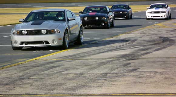 2010 Roush 427R Mustangs at the track